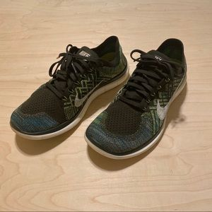 "Nike Free 4.0 Flyknit ""Olive"" Mens Size 9.5"